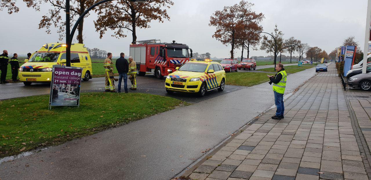 Video bestuurster raakt bekneld bij eenzijdig ongeval in Gorredijk