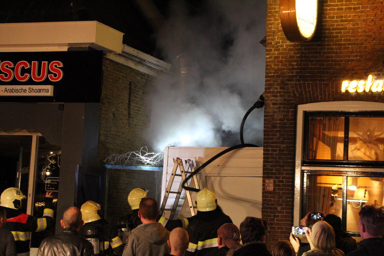 Brand in Afzuiginstallatie bij grillhouse in Drachten