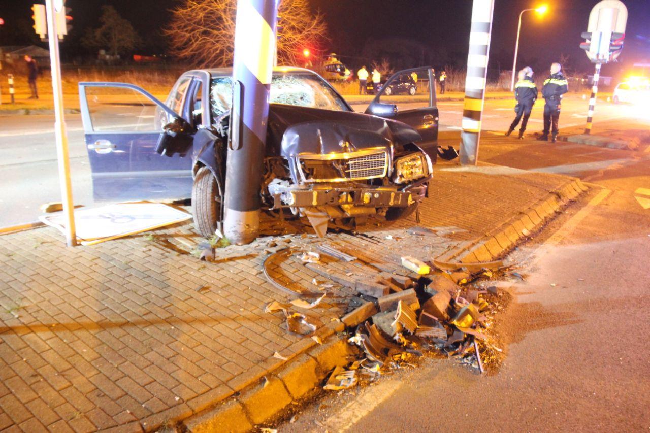 Flinke schade na eenzijdig ongeval in Hurdegaryp