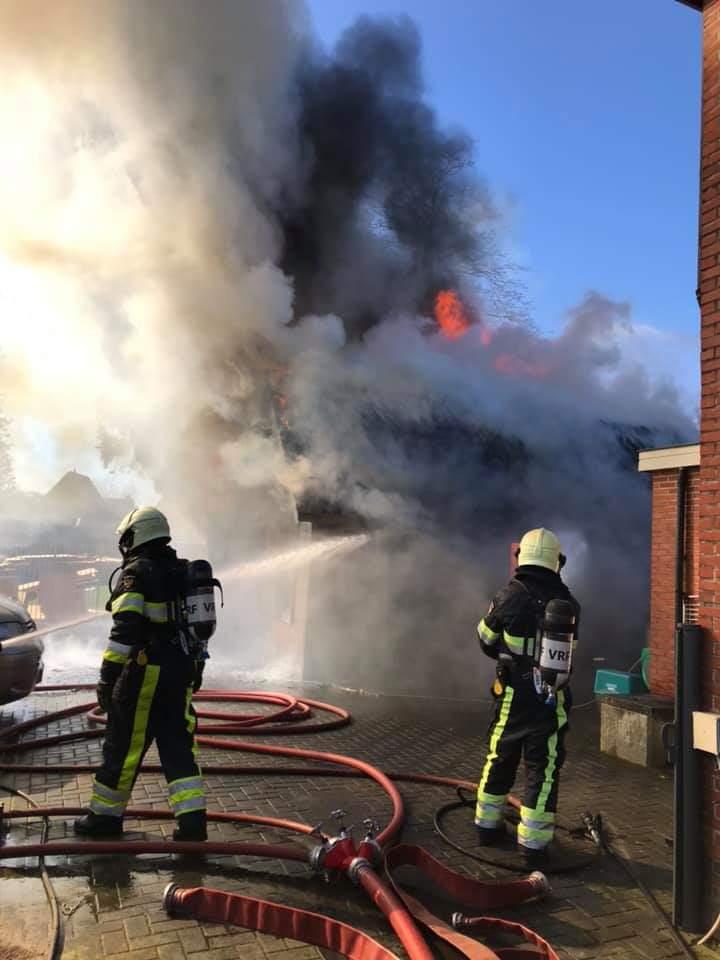 Flinke Rookontwikkeling bij uitslaande brand in Drogeham