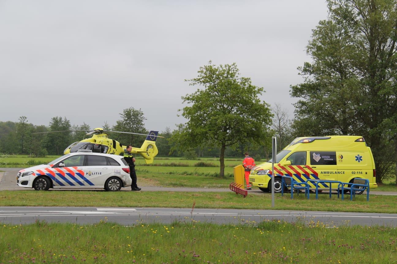 Traumahelikopter gealarmeerd voor een rendez vous bij Nijega