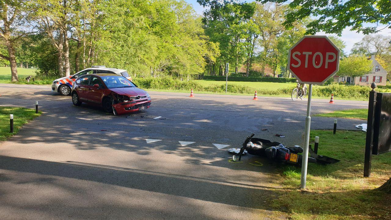 Scooterrijder raakt gewond bij ongeval bij Beetseterzwaag