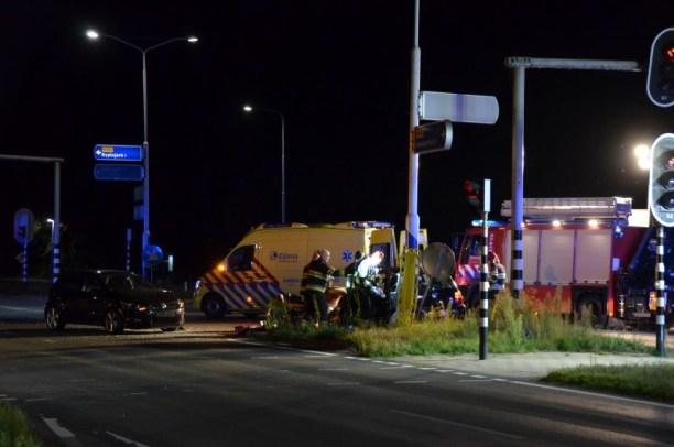 Een persoon gewond bij verkeersongeval in Ryptsjerk