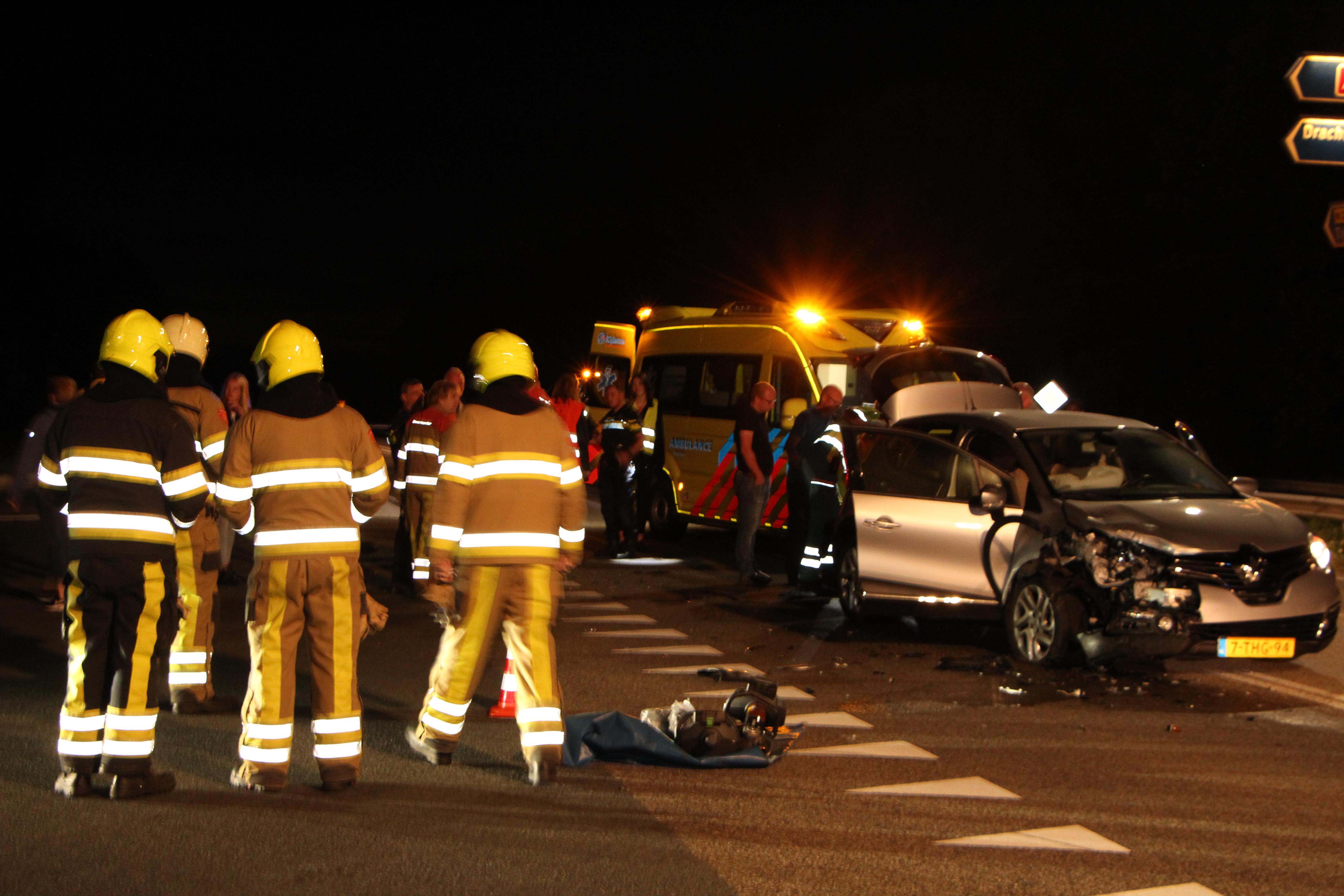 Vrouw raakt gewond bij verkeersongeval bij Terwispel