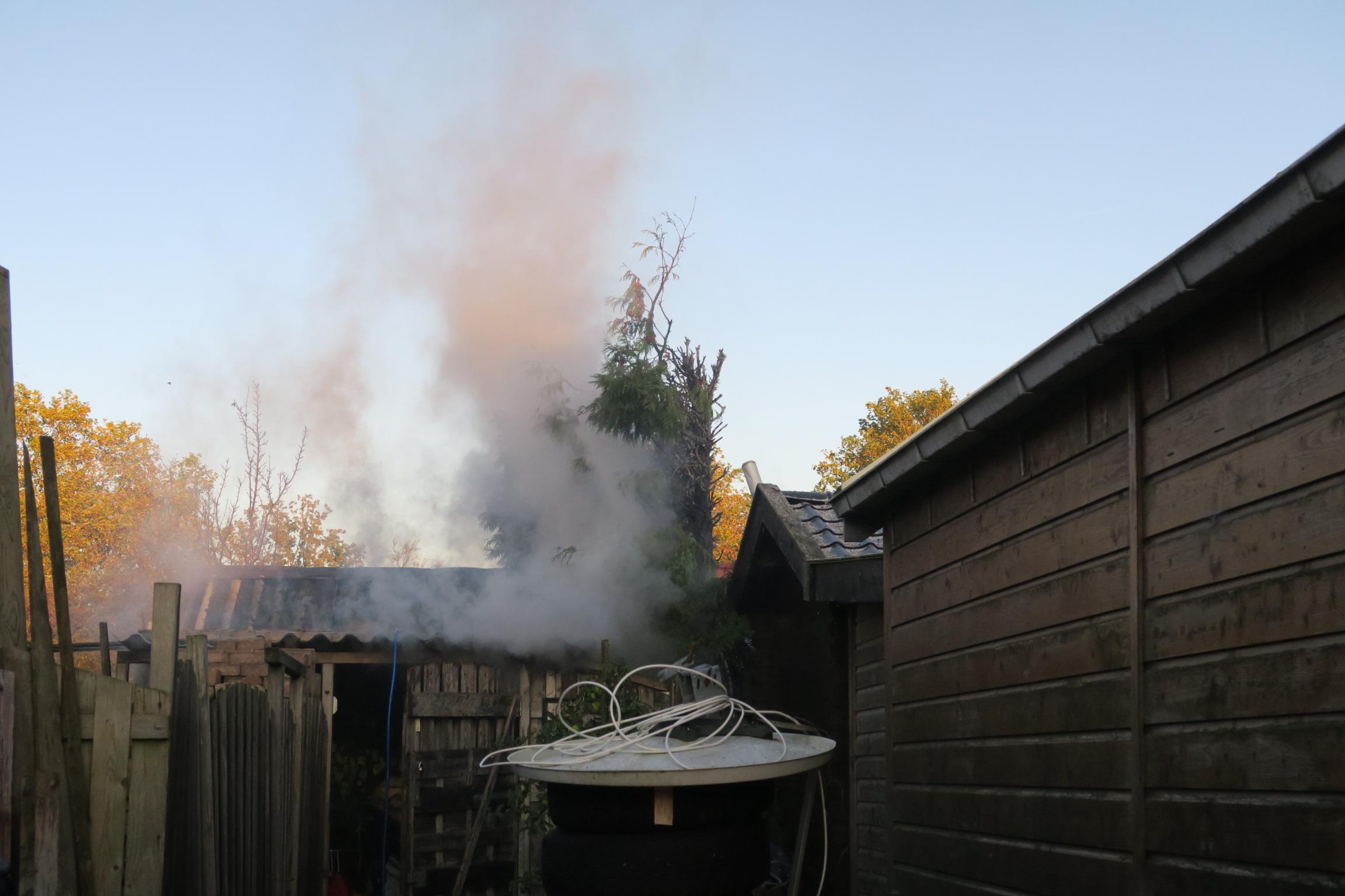 Flinke rookontwikkeling na coniferenbrand