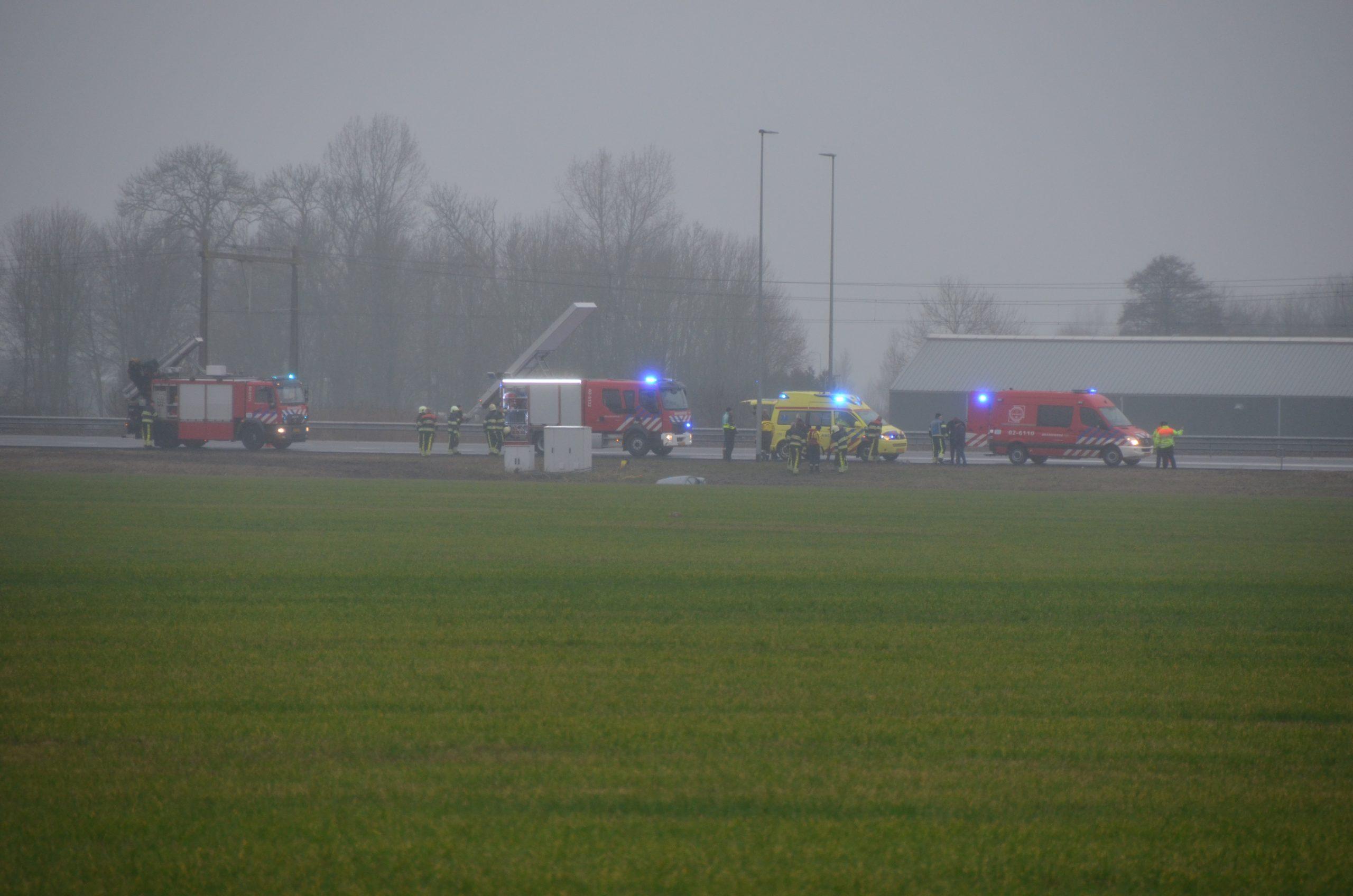 Een persoon raakt Ernstige gewond na eenzijdig ongeval op de A32 bij Wurdum