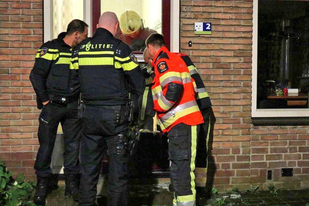 Brandende Klapblok laat politie en brandweer uitrukken aan de Schutersveld in Drachten