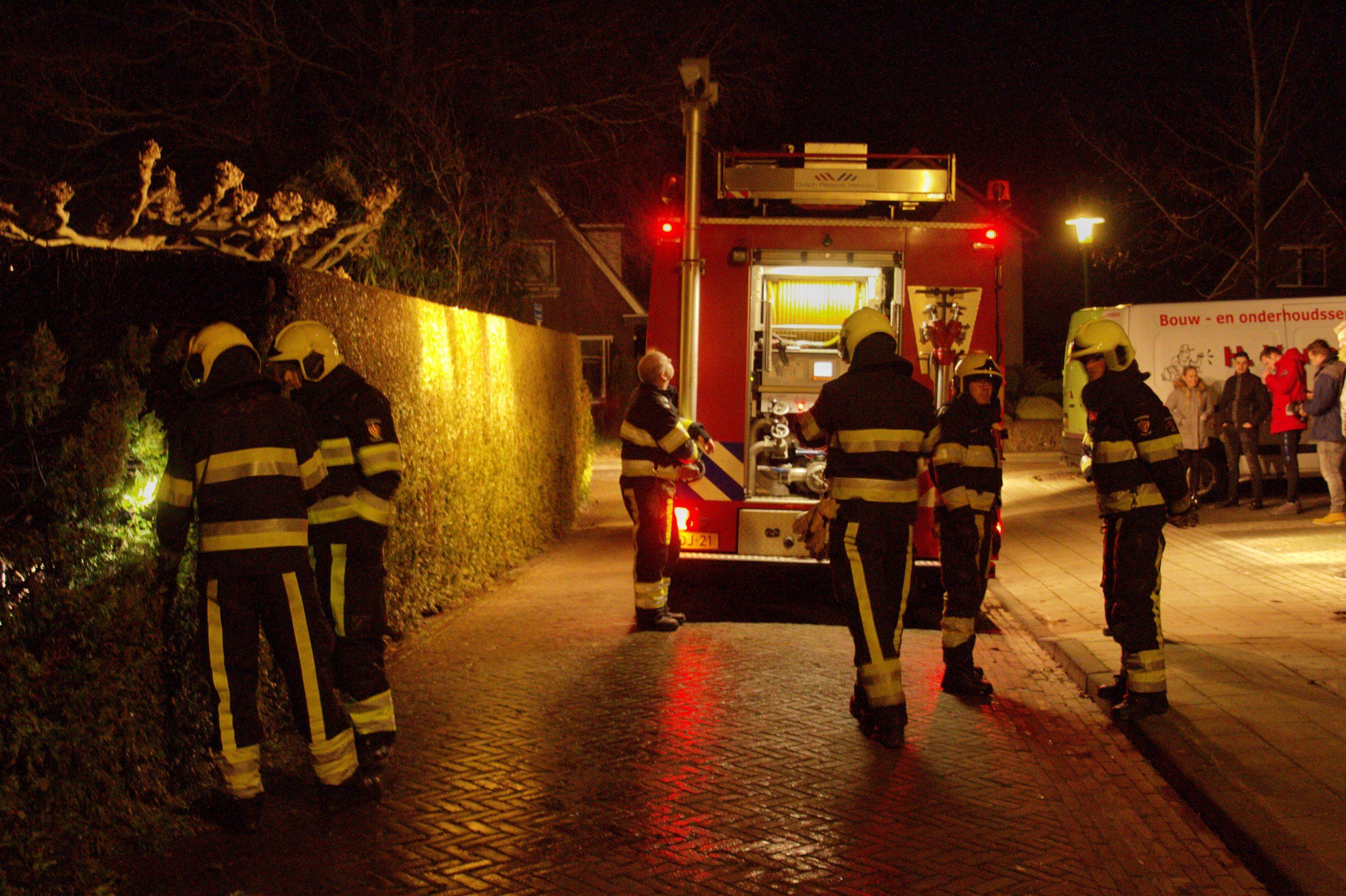 Coniferenbrand aan de Noorderhof in Drachten