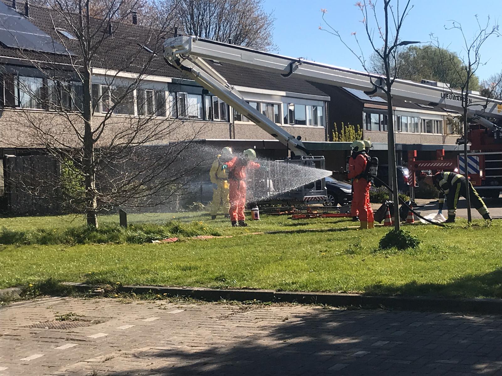 Brandweer in actie voor mogelijke coronapatiënten