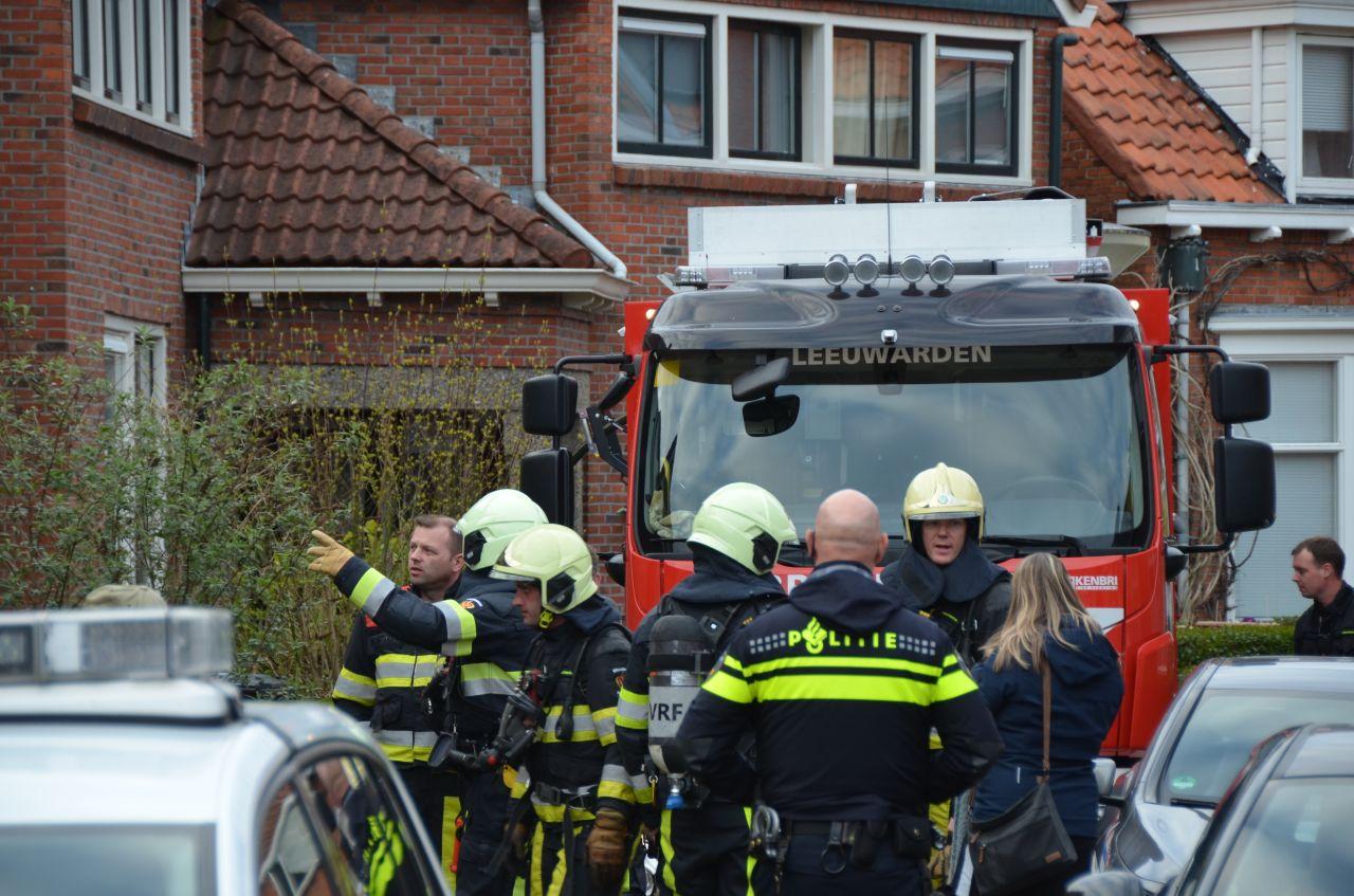 Bovenverdieping beschadigd door korte brand in Leeuwarden