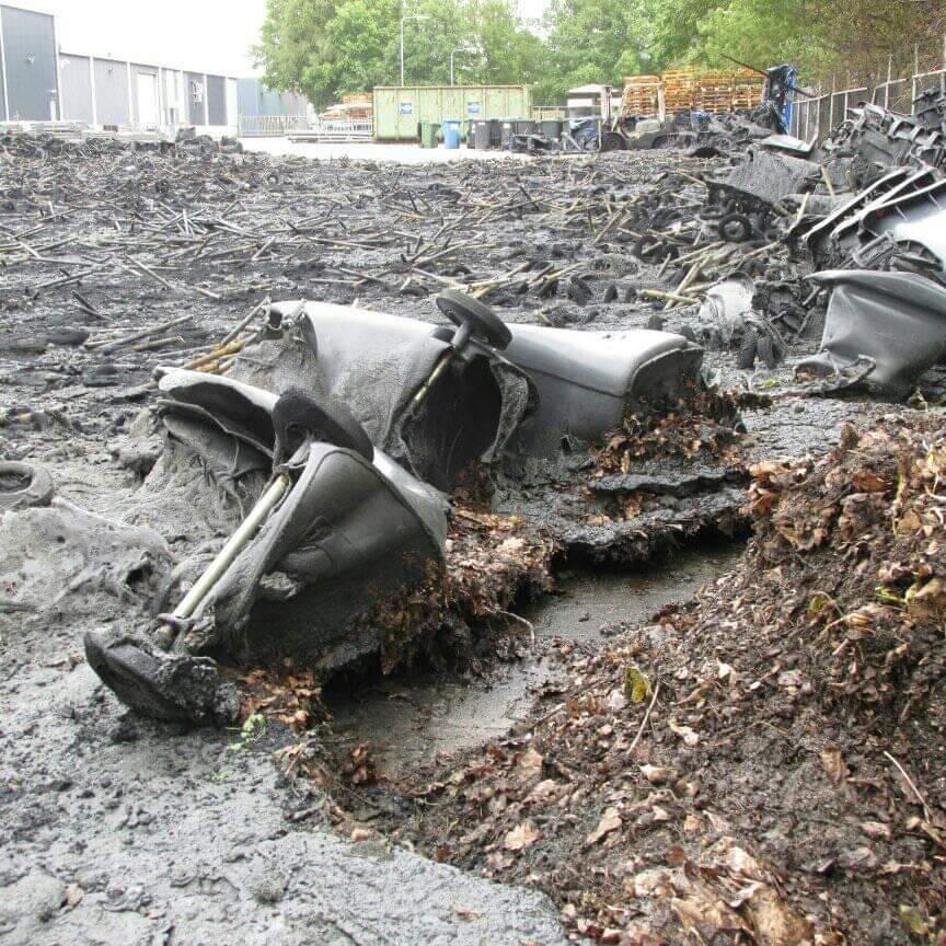 duizend Kilko's verwoest door zeer grote uitslaande brand in Gorredijk