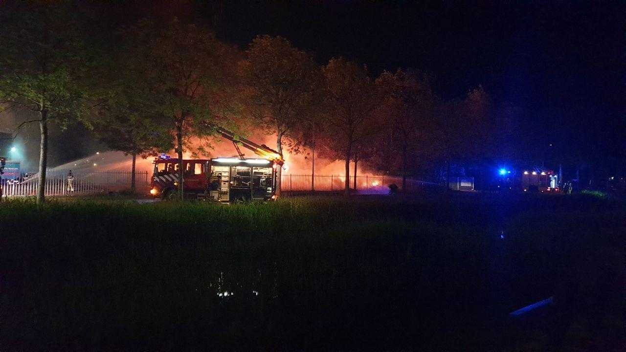 brand op Wetterwille in Gorredijk is aangestoken