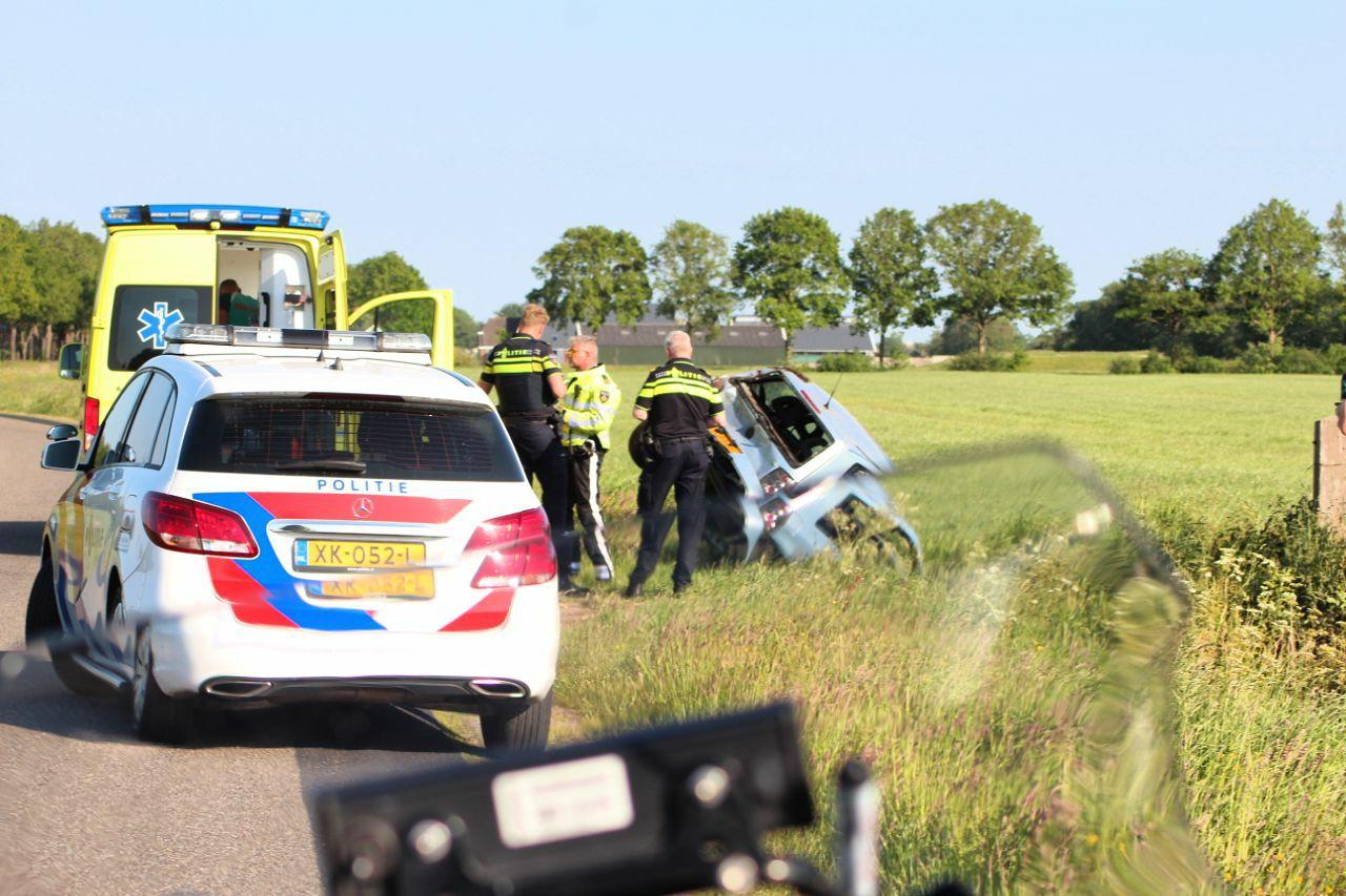 twee gewonden na Eenzijdig ongeval op de Mounleane bij Ureterp