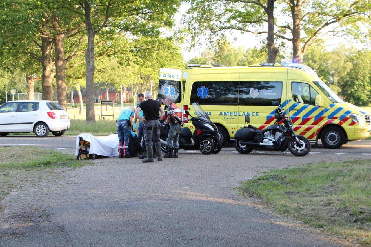 Motorrijder raakt ten val en raakt gewond in Haule
