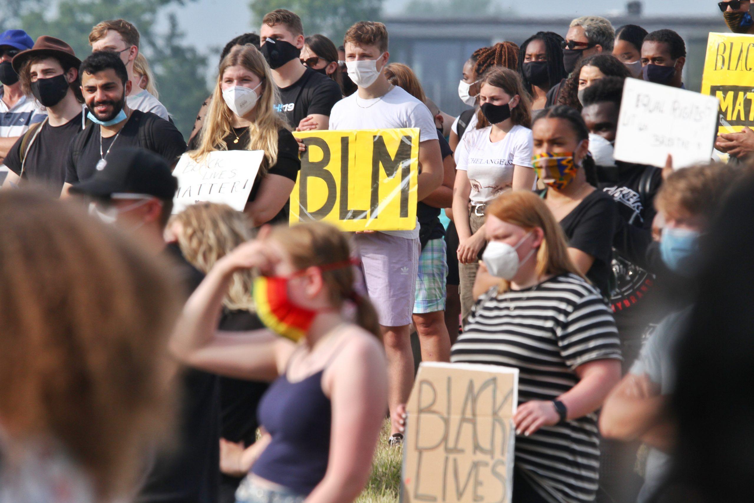 Veel politie inzet bij Black live Matter protest in Leeuwarden