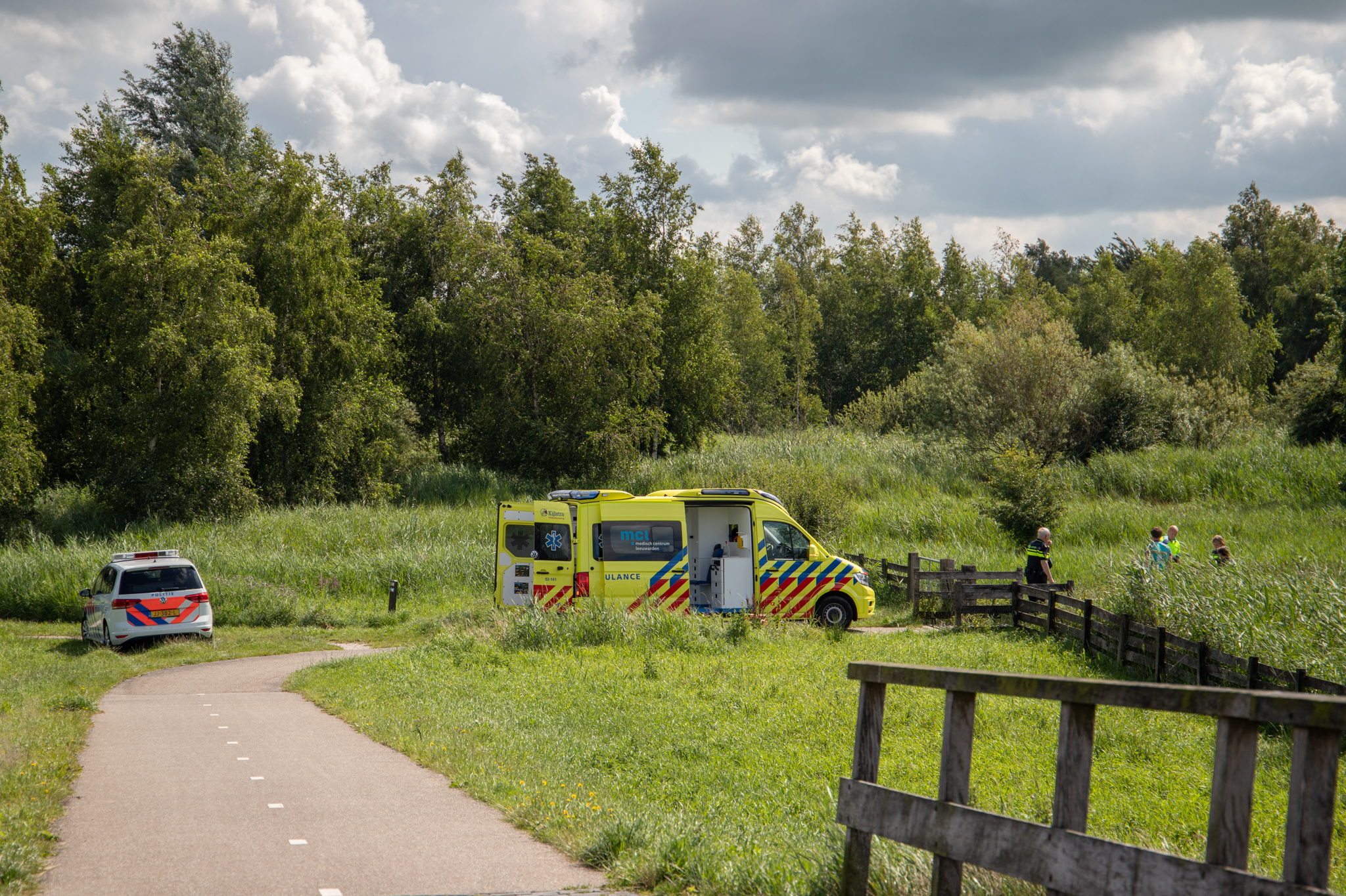 Traumahelikopter ingezet voor gevallen skeeleraar in Leeuwarden