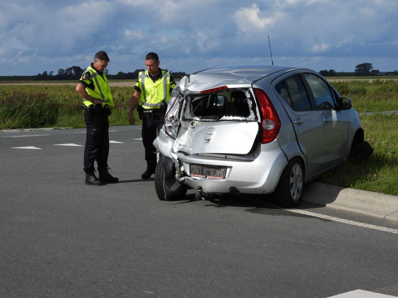 Weer een verkeersongeval op de Ljouwerterdyk bij Ferwert