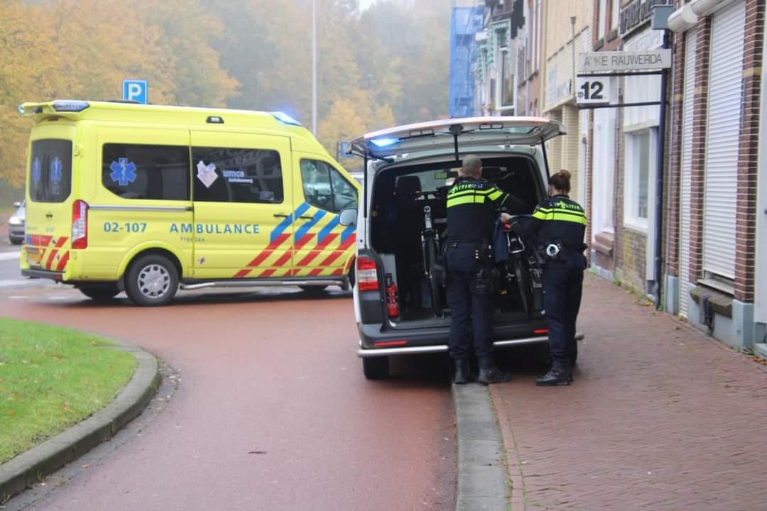 Fietser komt hard ten val en raakt gewond aan de Westerplantage in Leeuwarden