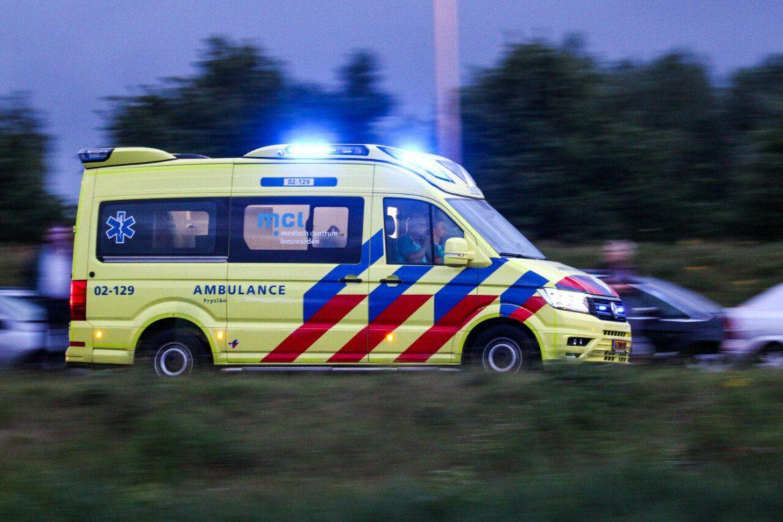 25 jarige motorrijder uit Leeuwarden komt om het leven na ernstige eenzijdig ongeval op de Lemmerweg N354 bij sneek