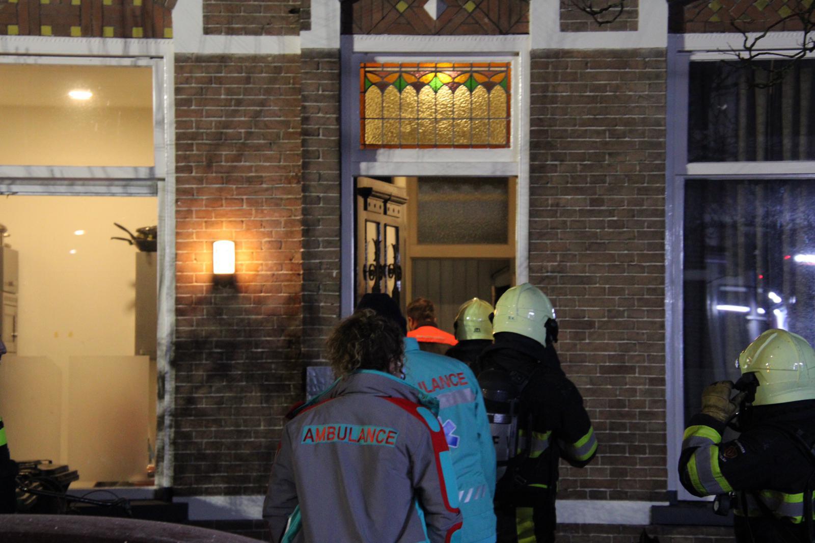 Veel rookontwikkeling na woningbrand in Leeuwarden