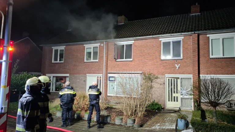 Brandweer rukt uit voor woningbrand aan de Kuiperssingel in Drachten