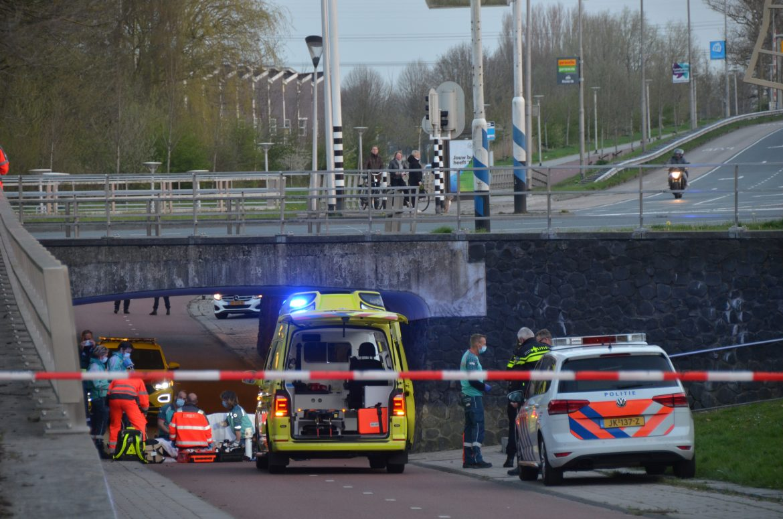 Traumahelikopter inzet na val van tunnel personen ernstig gewond