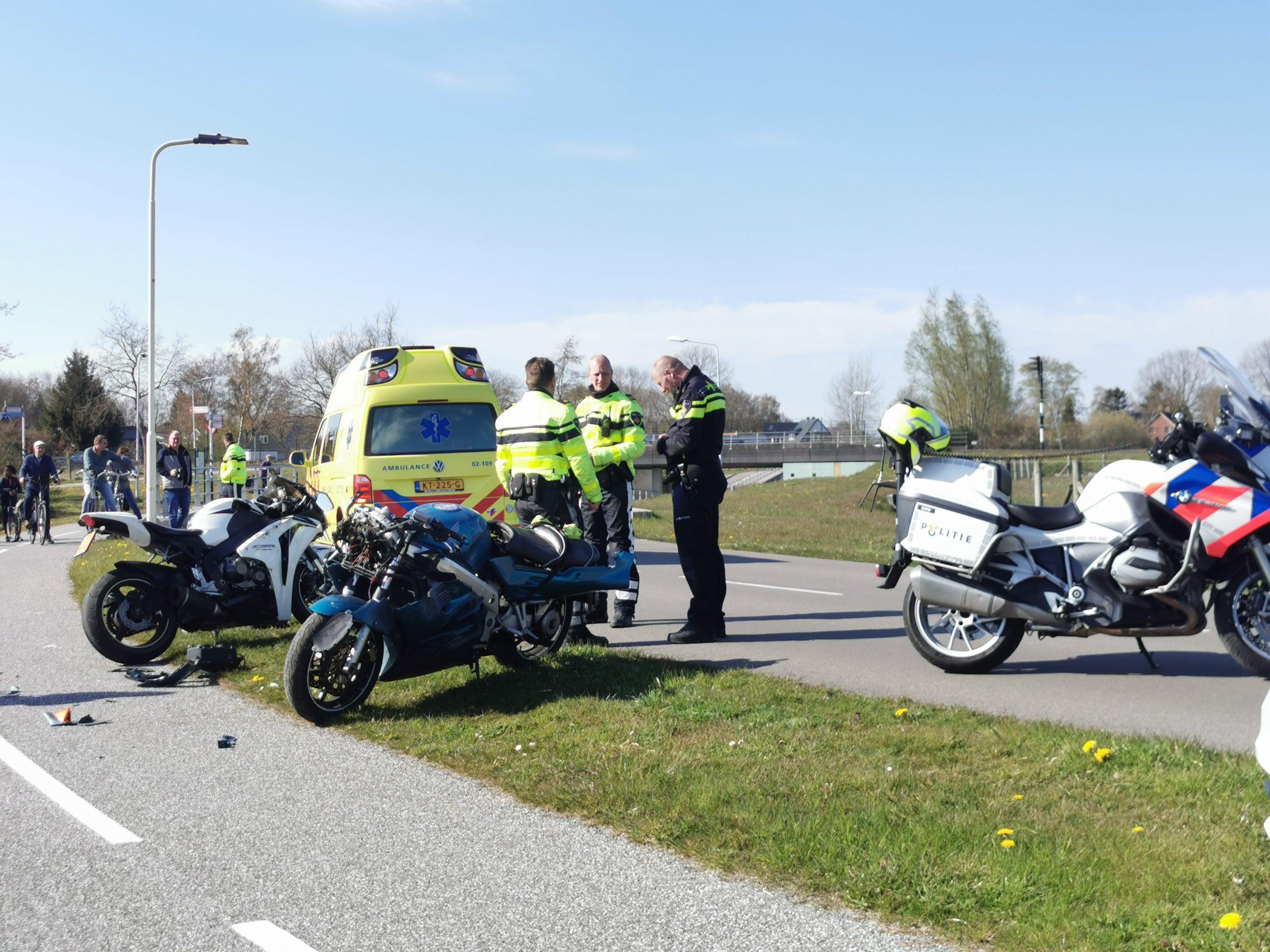 Motorrijder gewond na ongeval bij Kollumerzwaag
