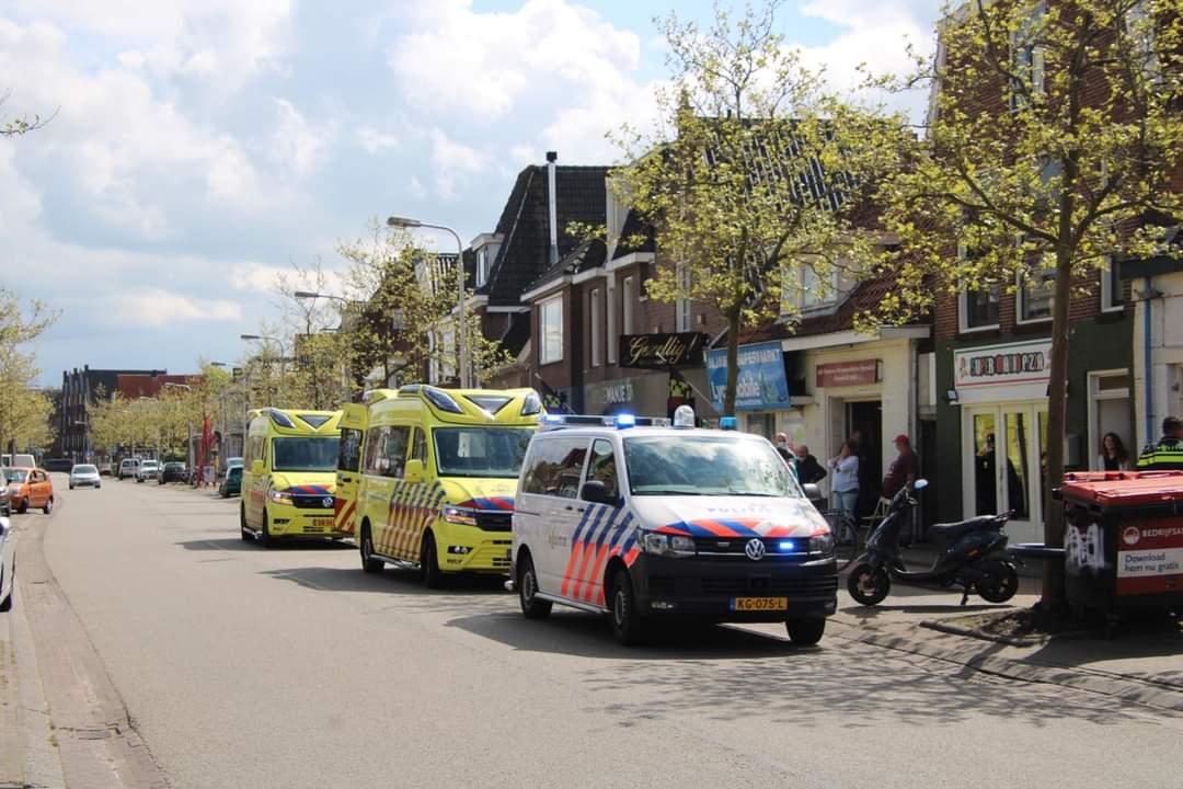 Twee gewonde na ongeval op het Zuidvliet in Leeuwarden